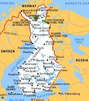 New Page - Sweden map arctic circle